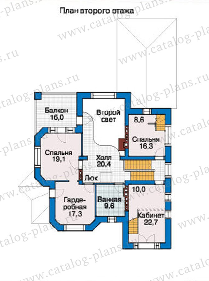 План 3-этажа проекта 37-17