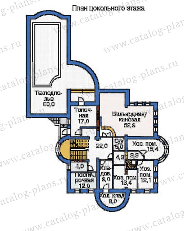 План 1-этажа проекта 35-24