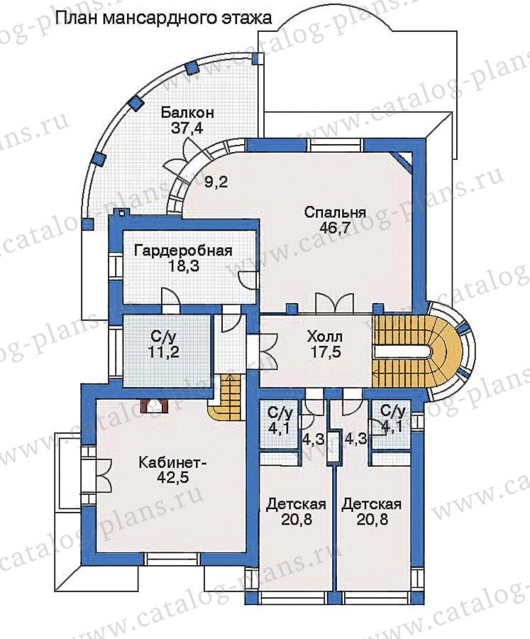 План 3-этажа проекта 35-19