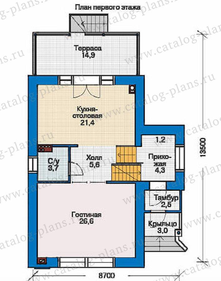 План 2-этажа проекта 36-87