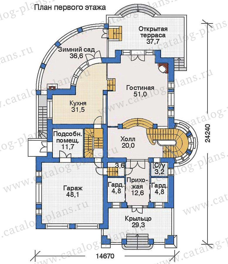 План 2-этажа проекта 35-19