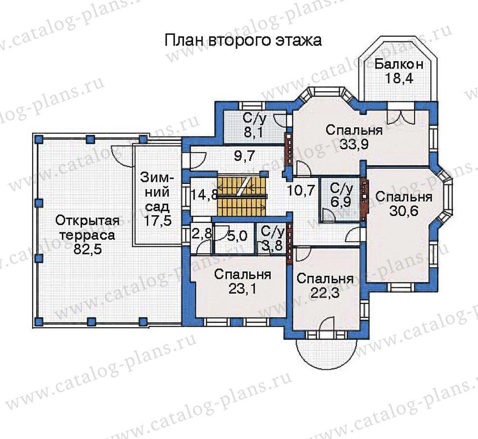 План 3-этажа проекта 35-81