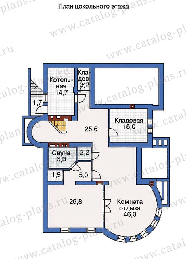 План 1-этажа проекта 36-13