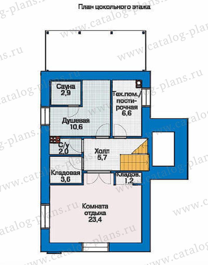 План 1-этажа проекта 36-87