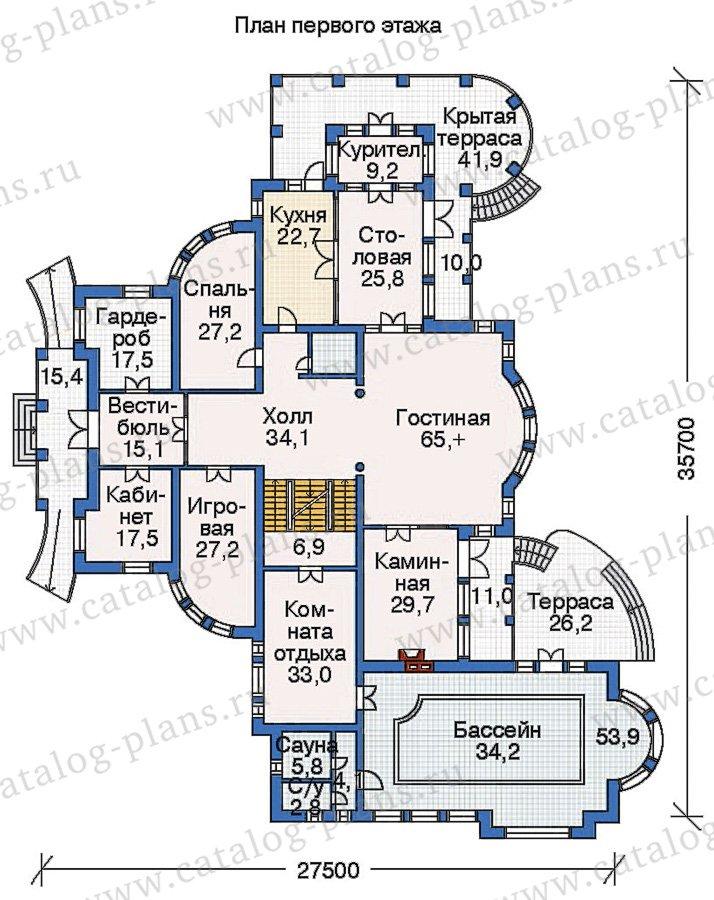 План 2-этажа проекта 36-09