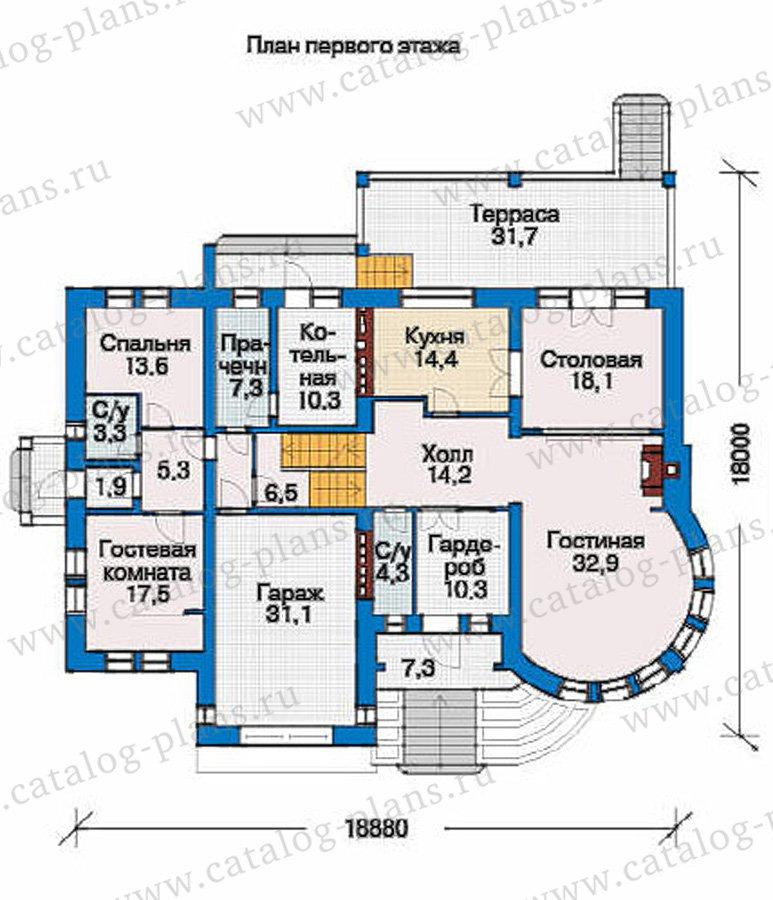 План 2-этажа проекта 36-19
