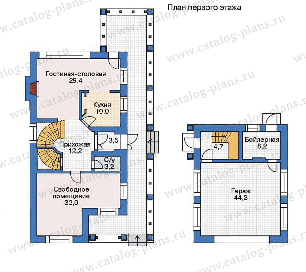 План 1-этажа проекта 35-74