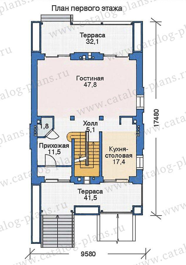 План 2-этажа проекта 35-90