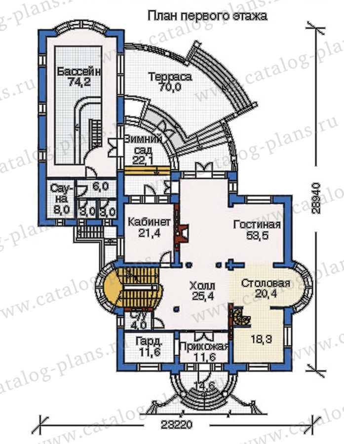 План 2-этажа проекта 35-24