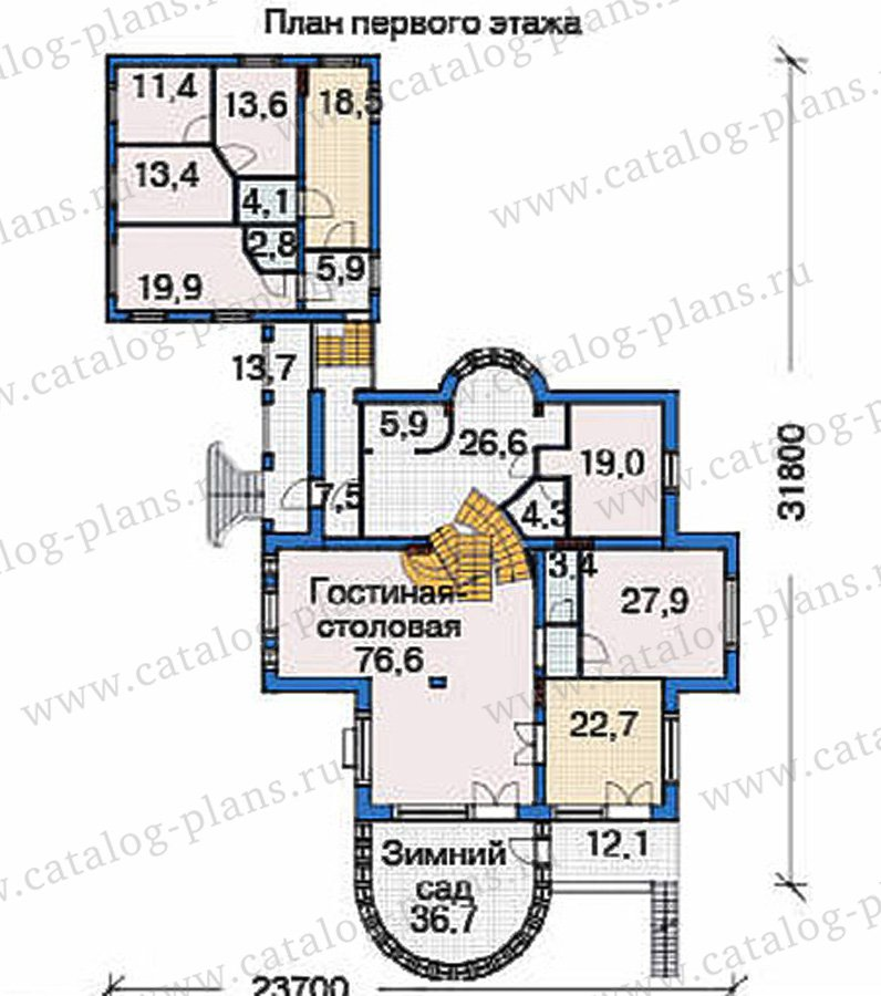 План 2-этажа проекта 36-51