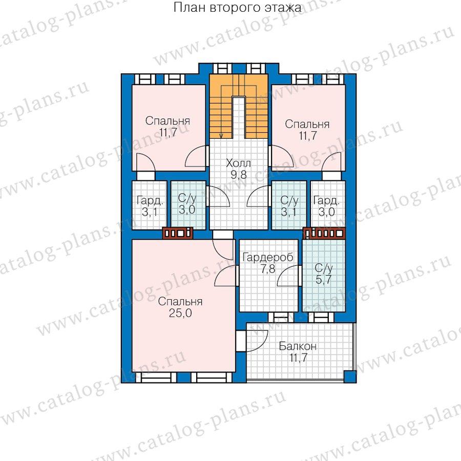 План 2-этажа проекта 57-84A