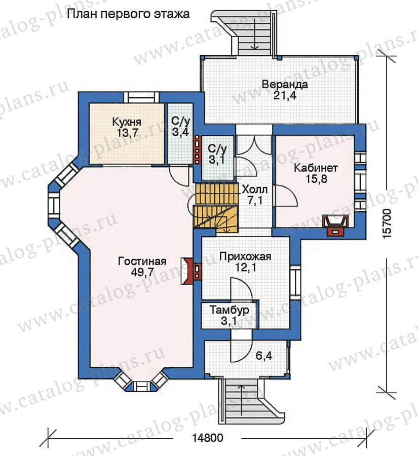 План 2-этажа проекта 35-69