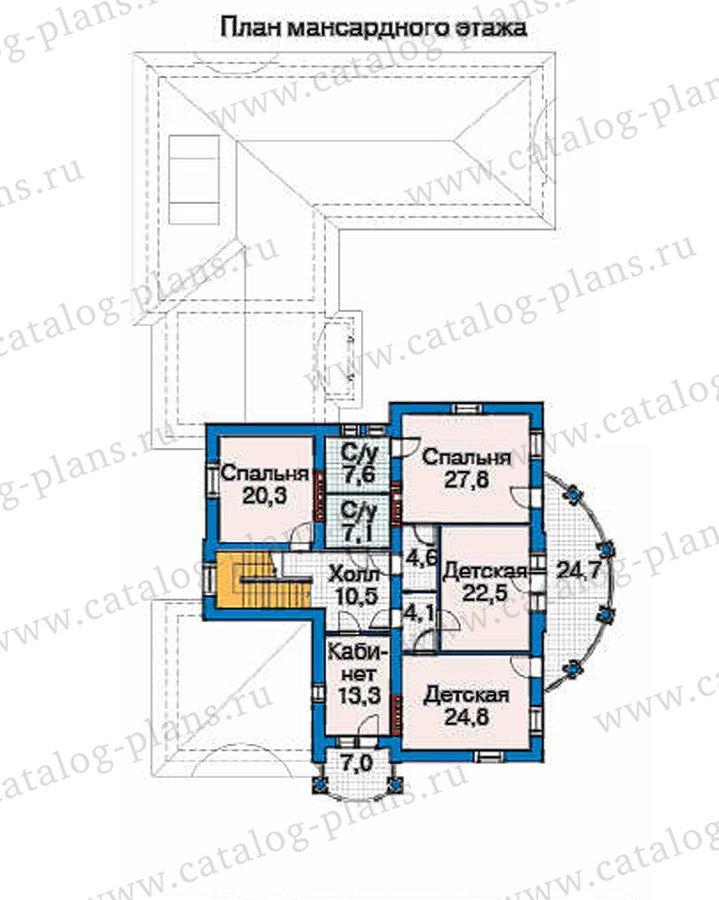 План 3-этажа проекта 35-85