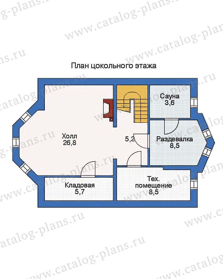 План 1-этажа проекта 53-05