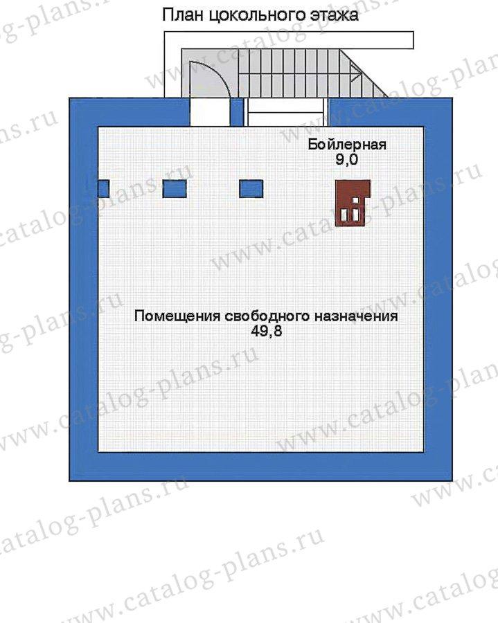 План 1-этажа проекта 90-07