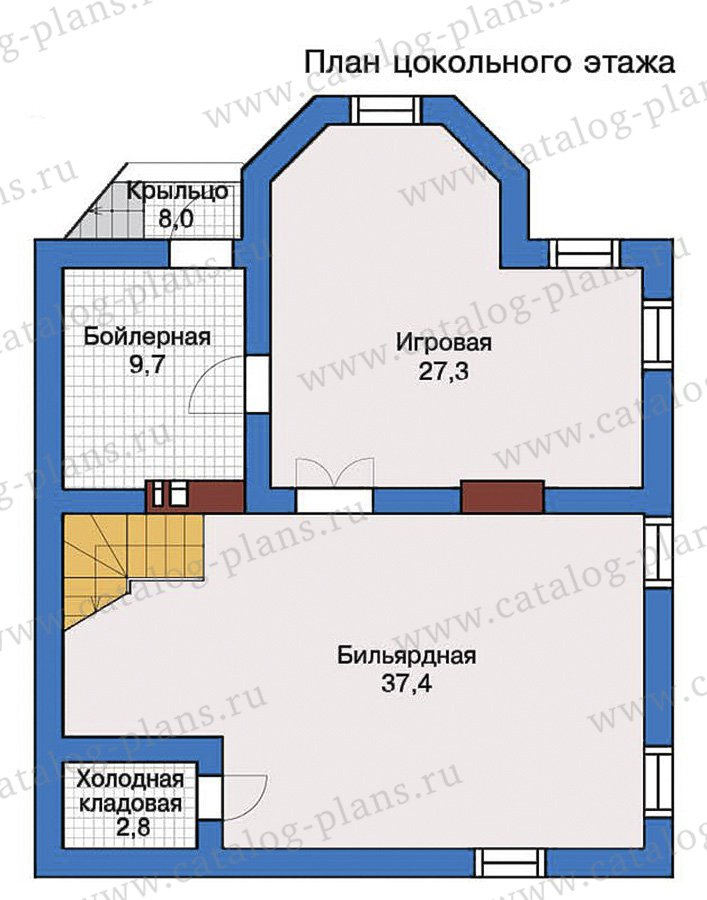 План 1-этажа проекта 57-31