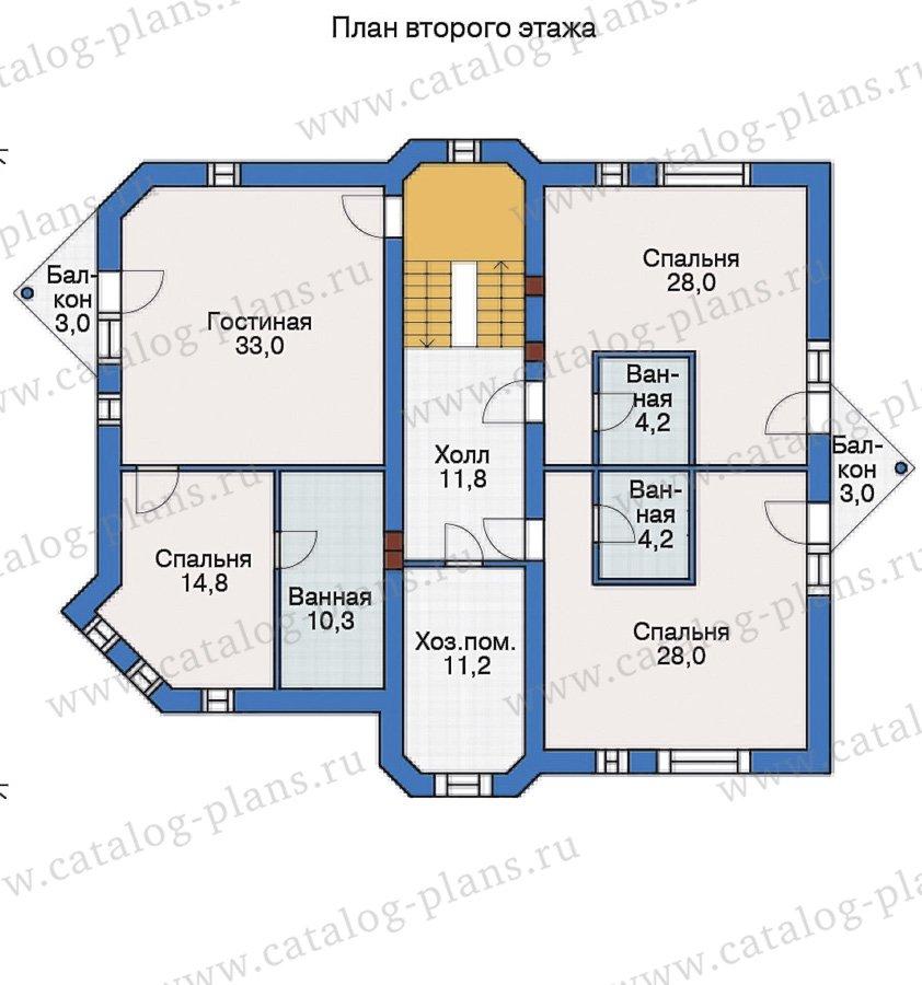 План 2-этажа проекта 55-19
