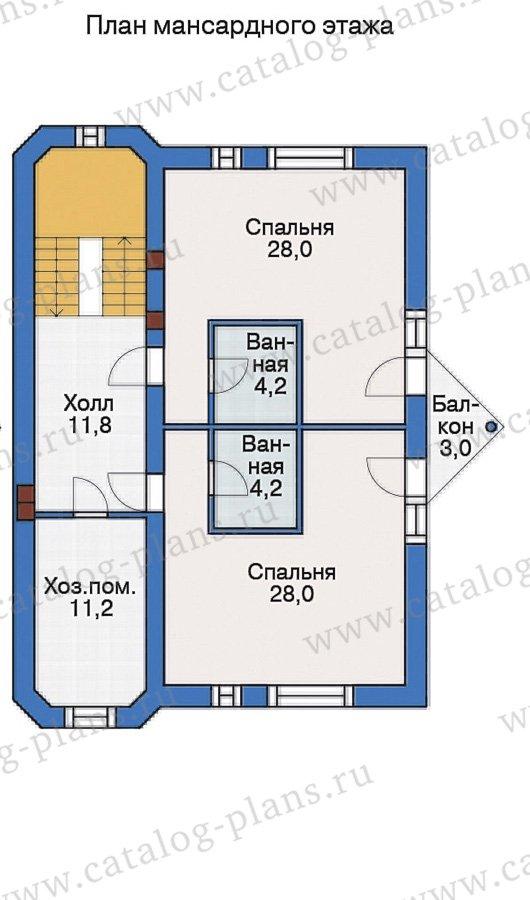 План 3-этажа проекта 55-19