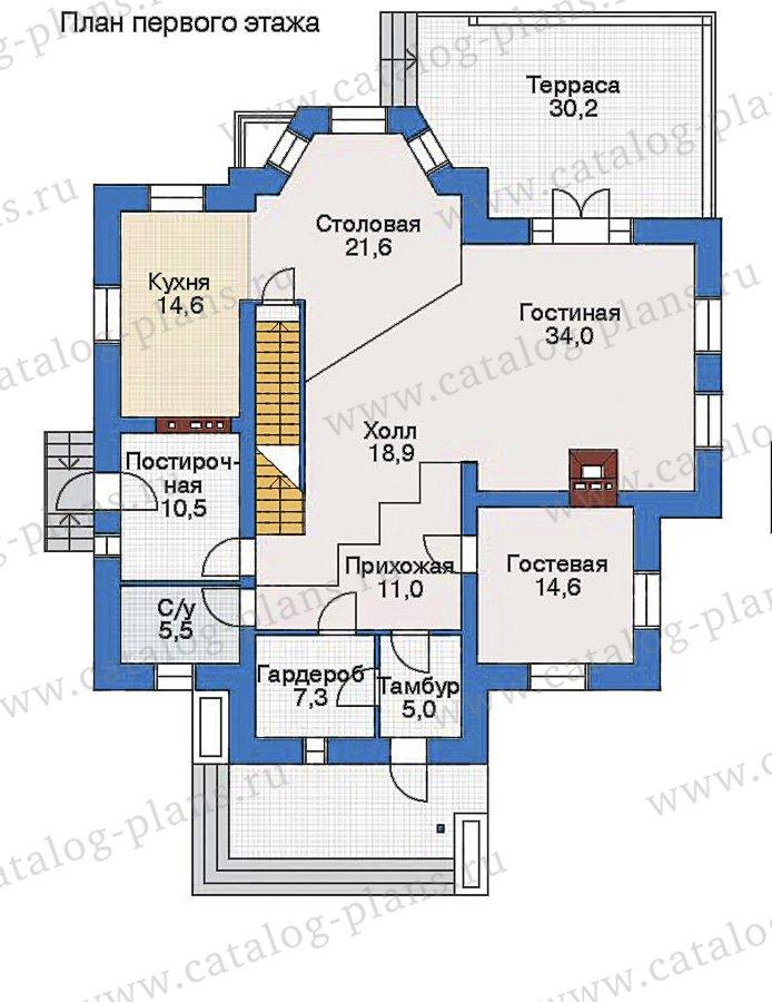 План 2-этажа проекта 80-10