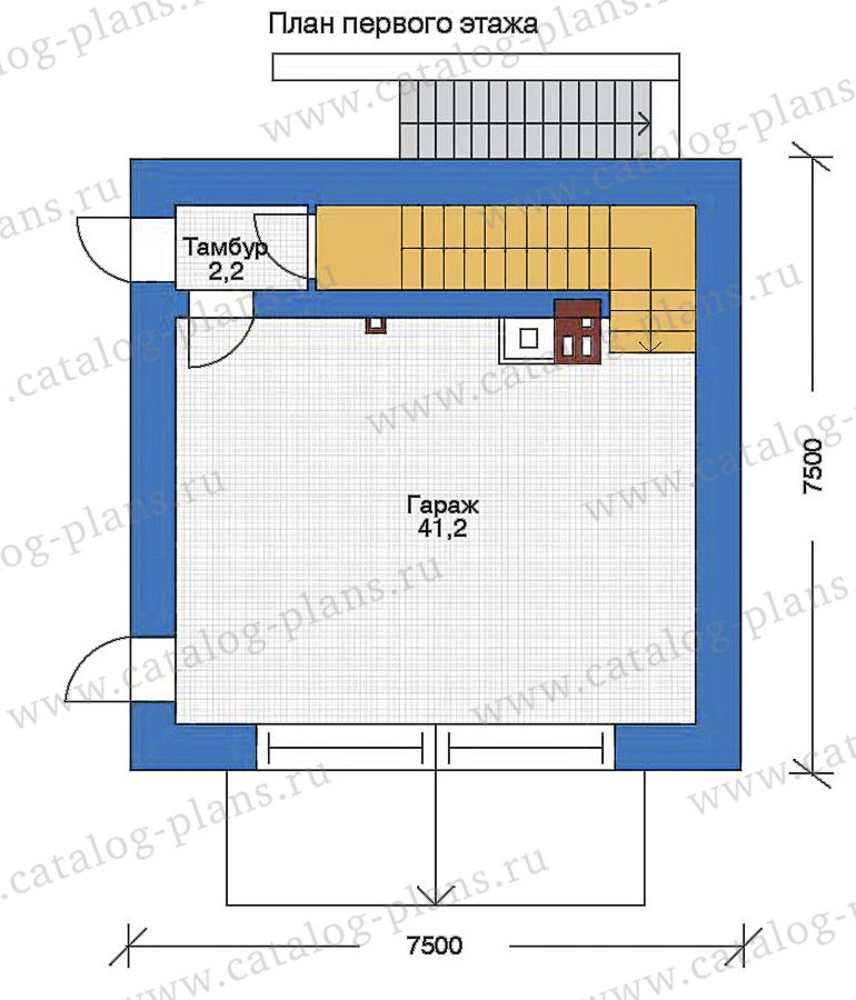 План 2-этажа проекта 90-07