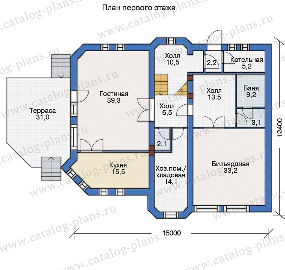 План 1-этажа проекта 55-19