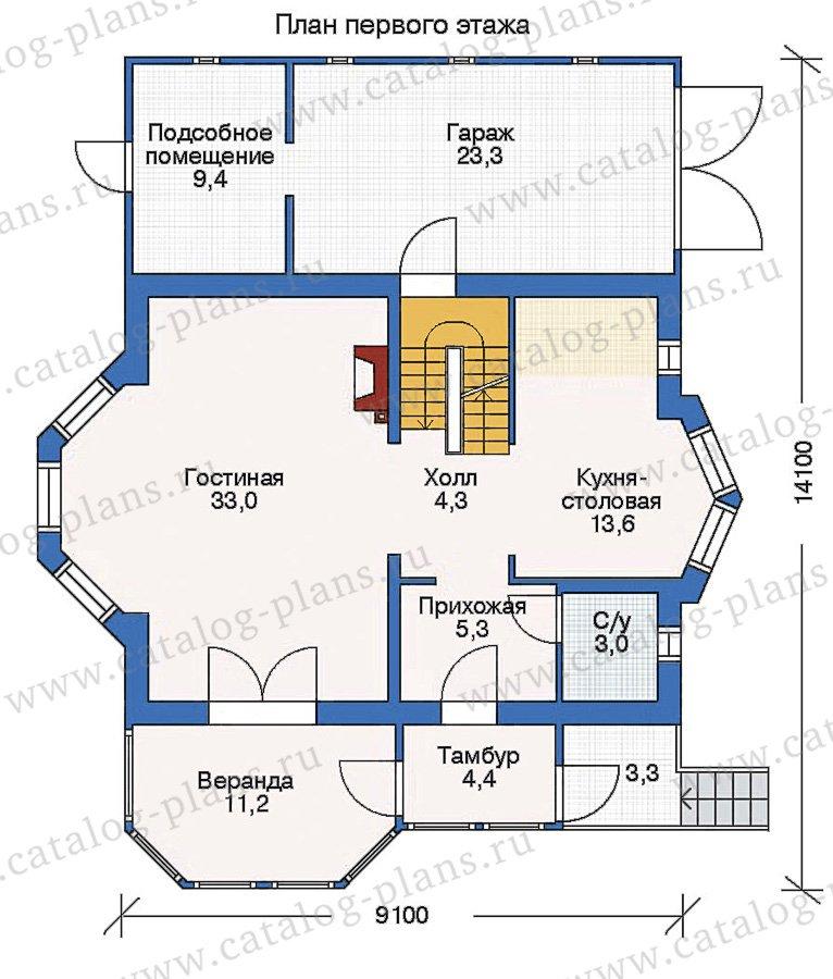 План 2-этажа проекта 53-05