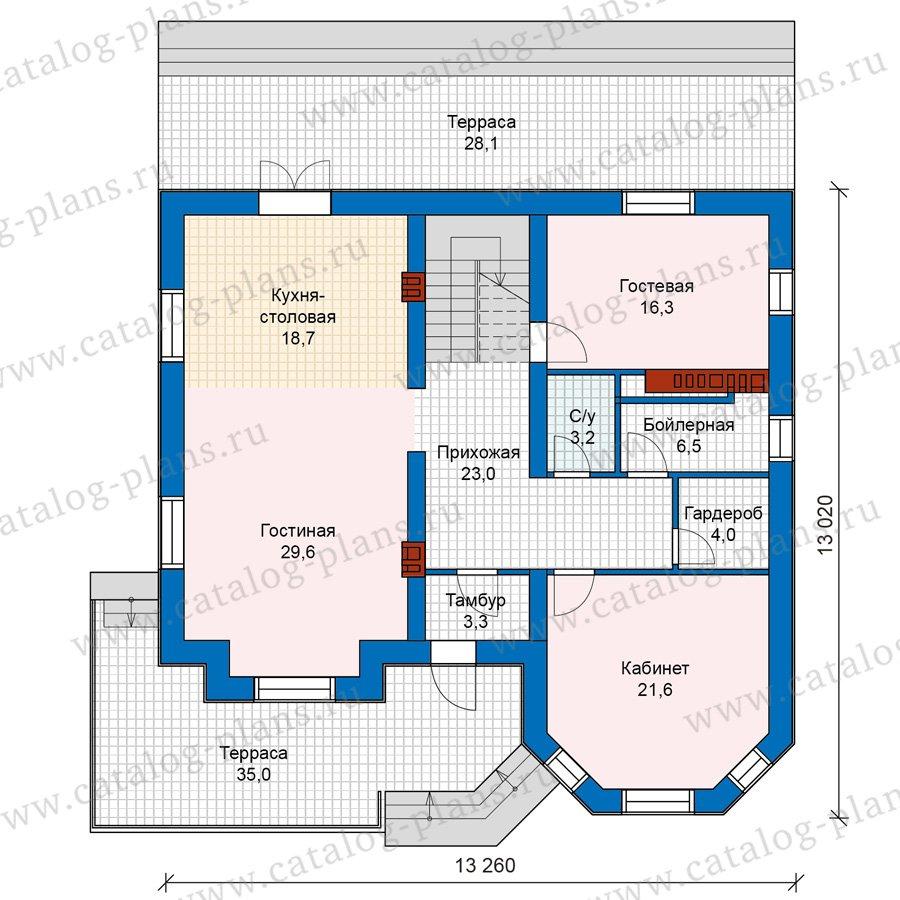План 2-этажа проекта 40-11AG