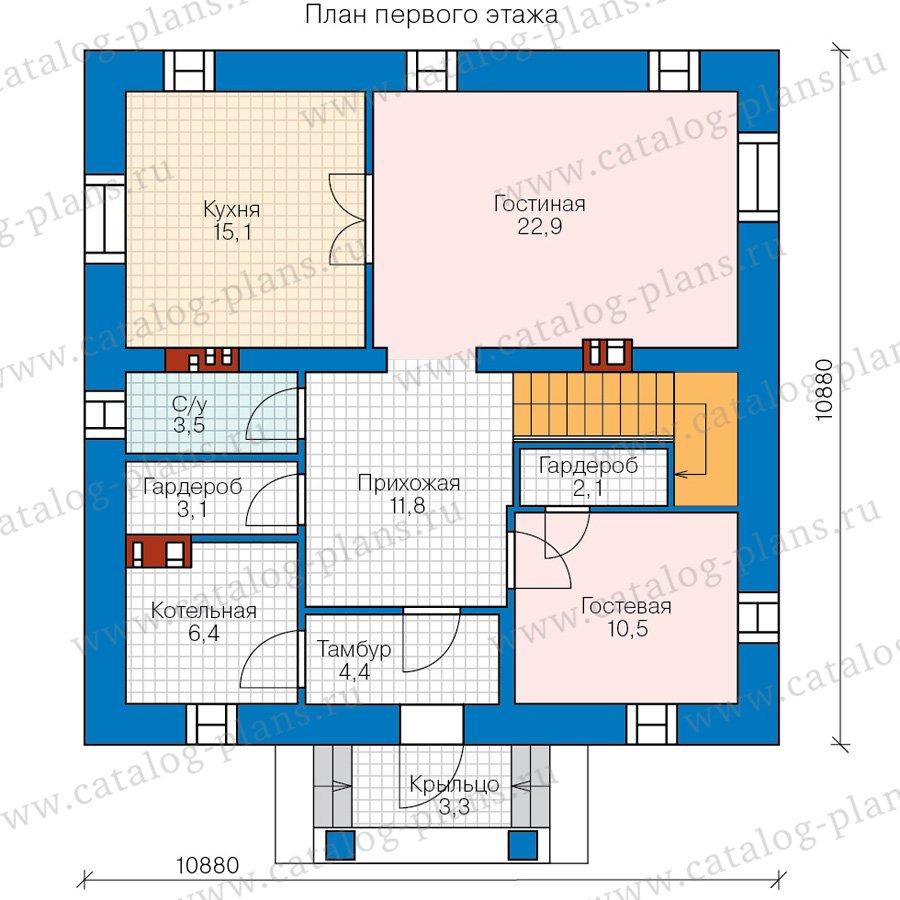 План 1-этажа проекта 57-05DKL