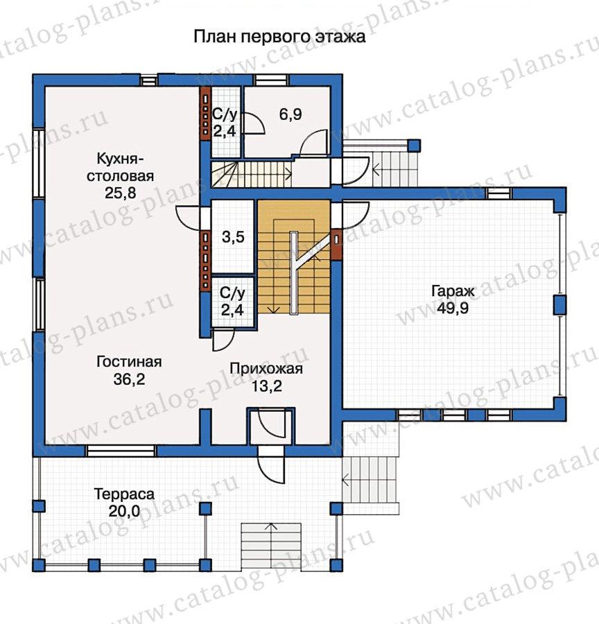 План 2-этажа проекта 50-17