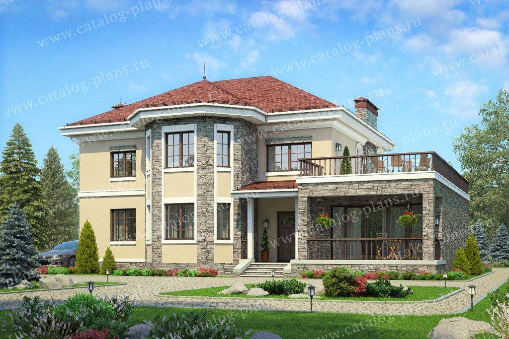 Проект жилой дом #57-25AK материал - кирпич, стиль европейский
