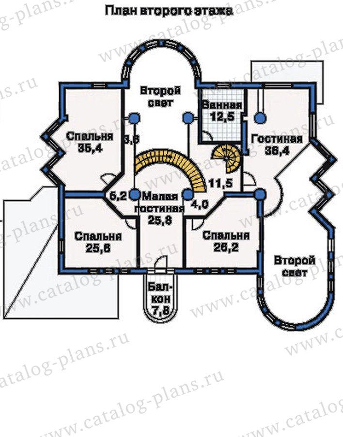 План 2-этажа проекта 51-35