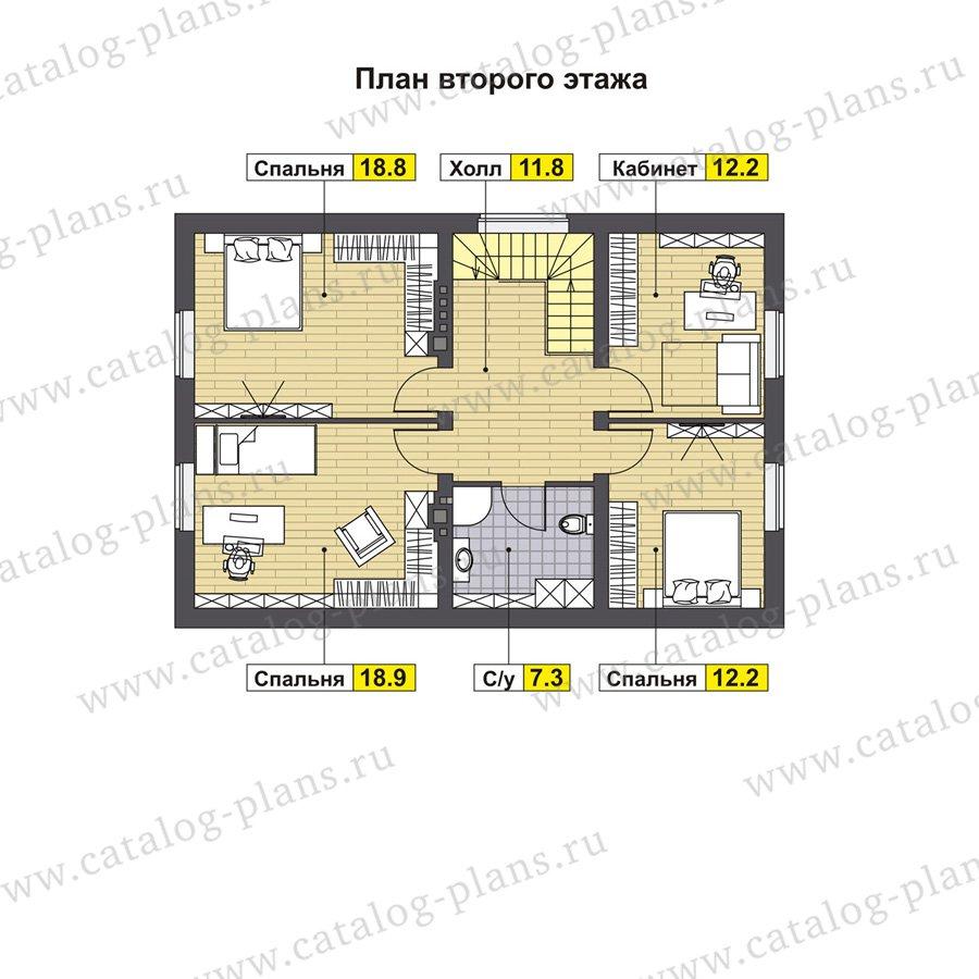 План 2-этажа проекта 60-87