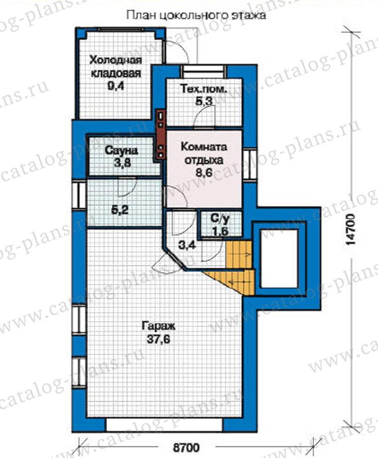 План 1-этажа проекта 49-27