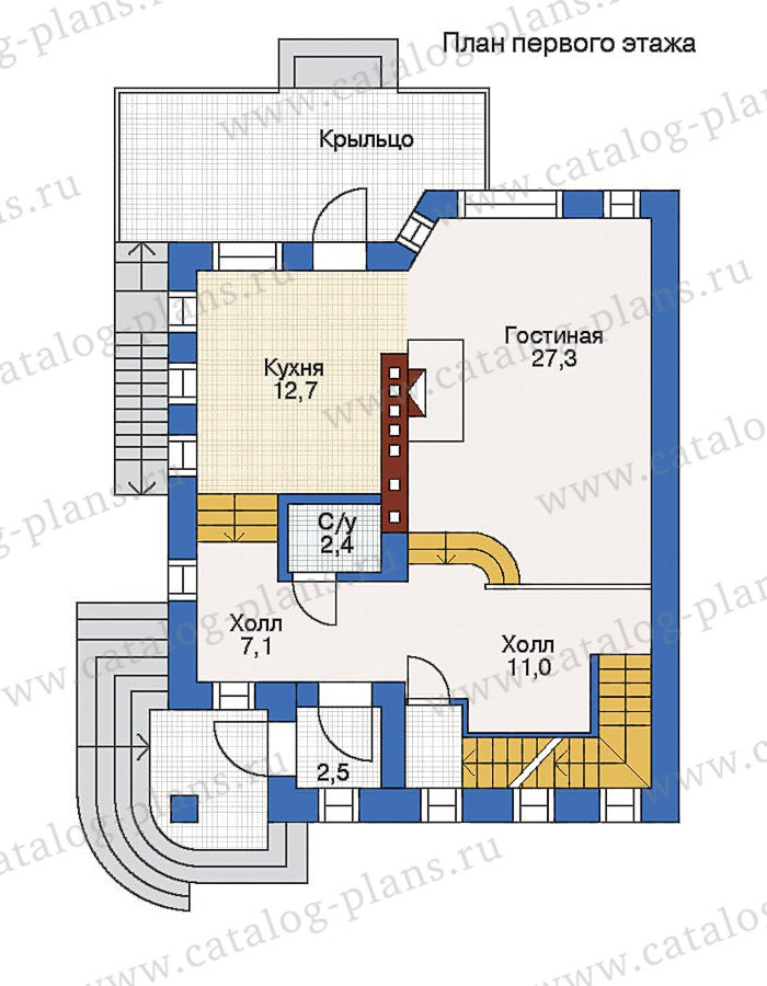План 2-этажа проекта 51-07
