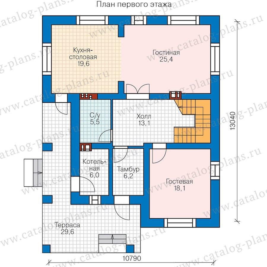 План 1-этажа проекта 57-42AK