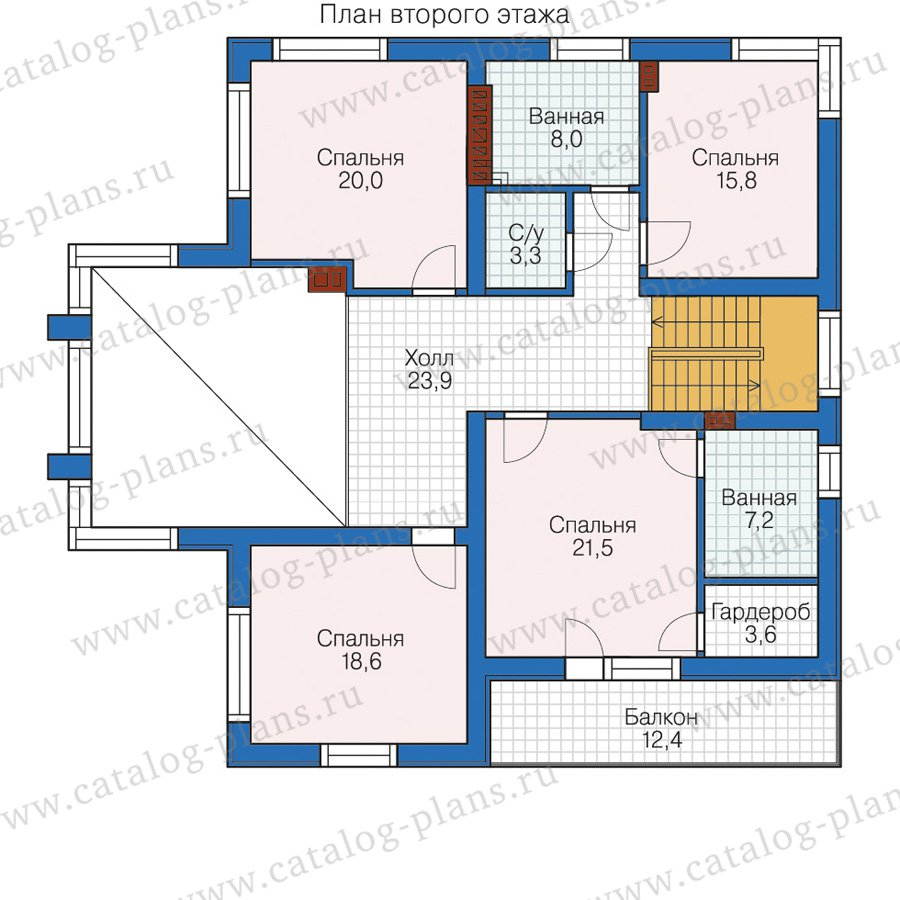 План 2-этажа проекта 58-63