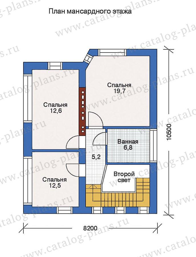 План 3-этажа проекта 51-07