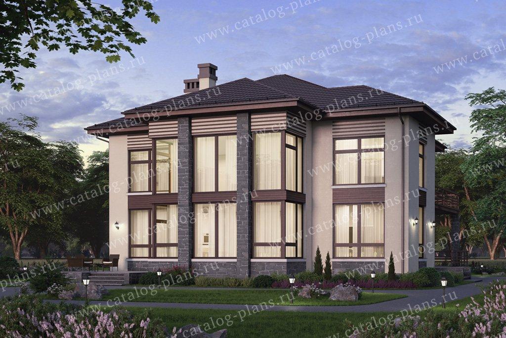 Проект жилой дом #58-63 материал - газобетон, стиль современный