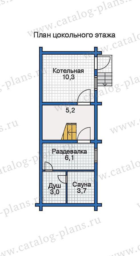 План 1-этажа проекта 10-34