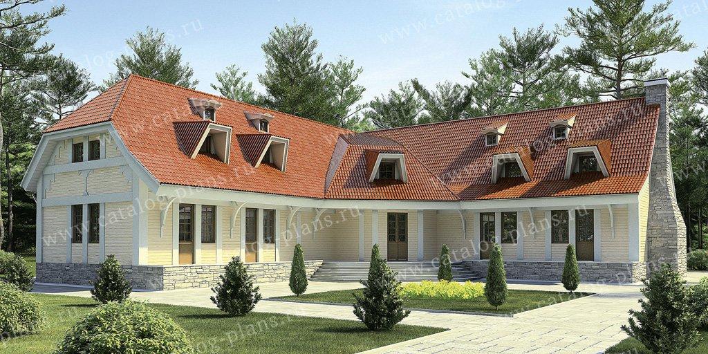 Проект жилой дом/ гостевой жилой дом #11-30 материал - дерево, стиль классический