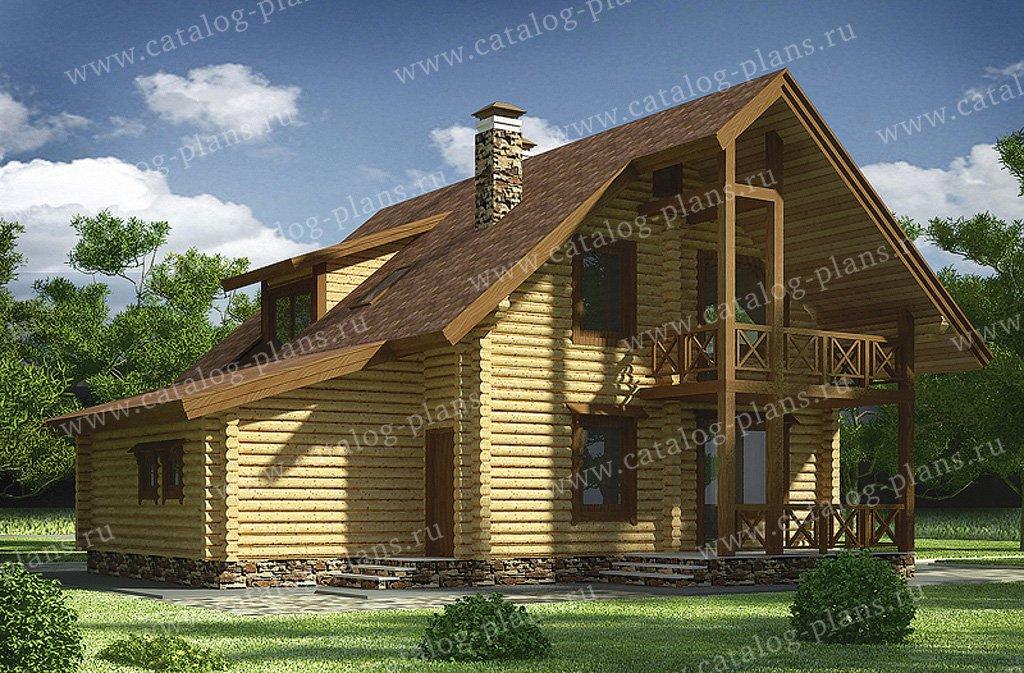 Проект жилой дом #11-88 материал - дерево, стиль скандинавский