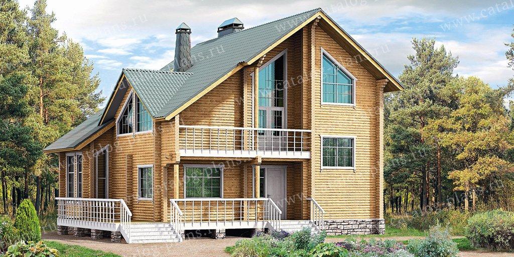 Проект жилой дом #10-34 материал - дерево, стиль скандинавский