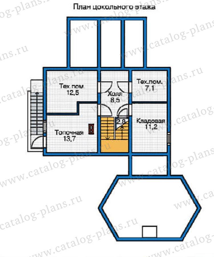План 1-этажа проекта 12-23