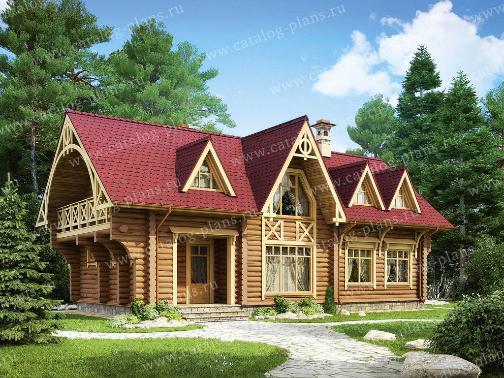 Проект жилой дом #11-92 материал - дерево, стиль модерн