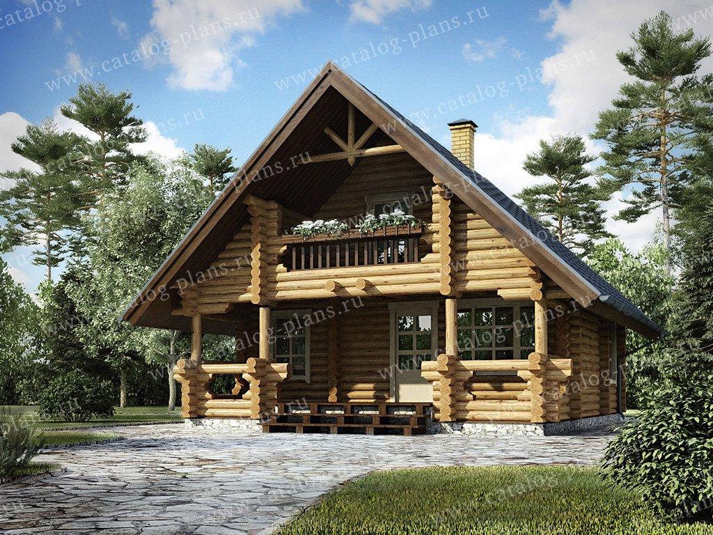 Проект жилой дом #10-76 материал - дерево, стиль шале