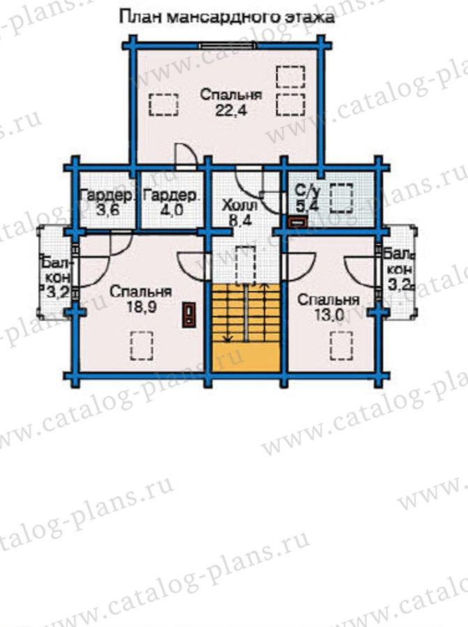 План 3-этажа проекта 12-23