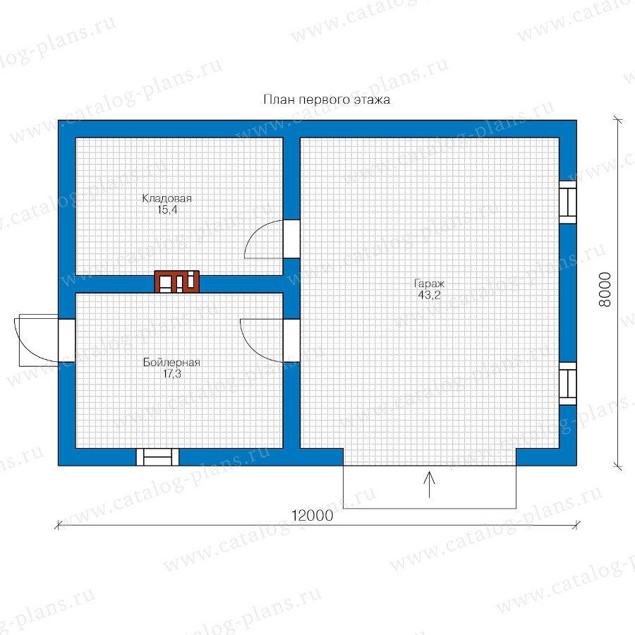 План 1-этажа проекта 70-81