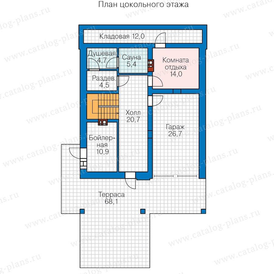 План 1-этажа проекта 59-98B