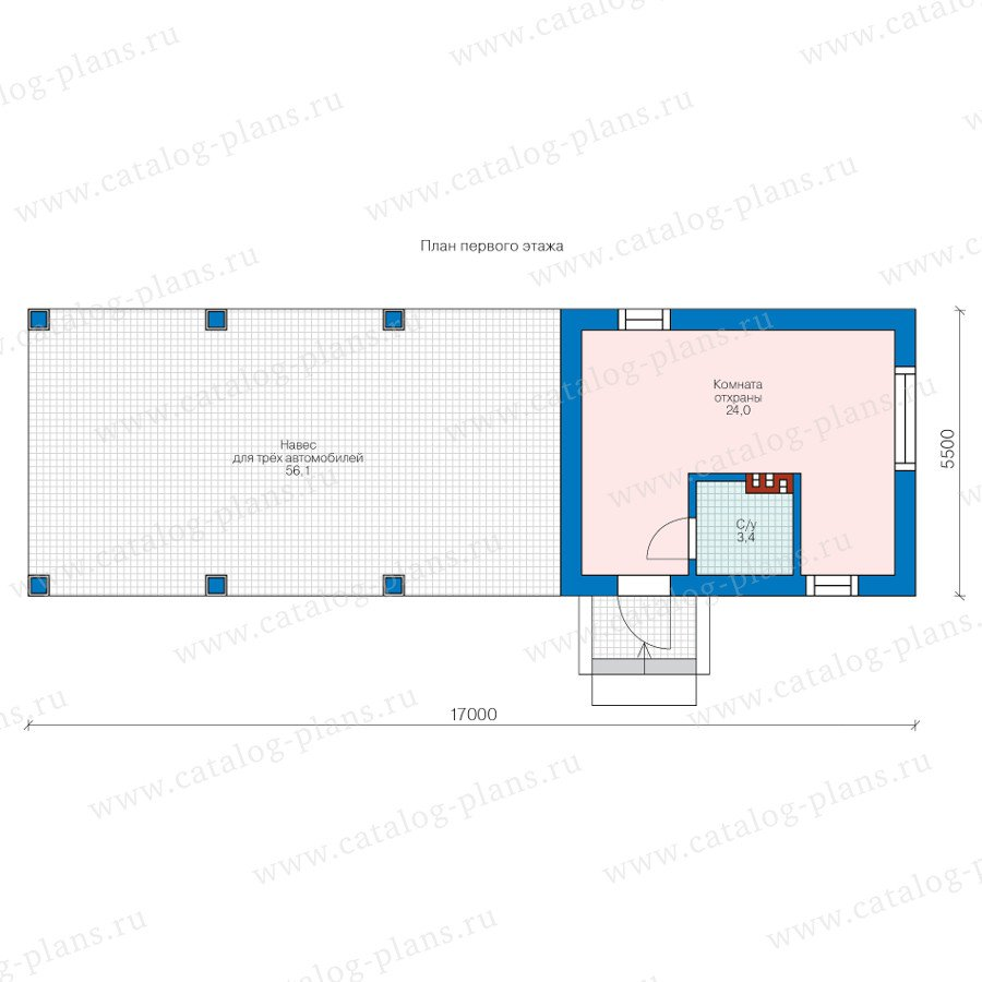 План 1-этажа проекта 70-82