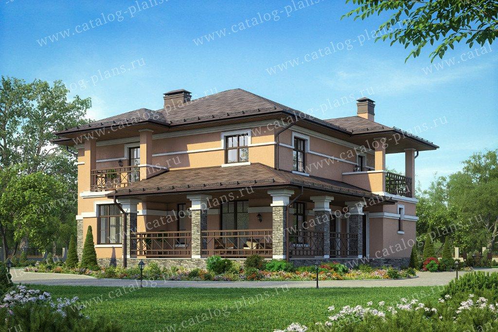 Проект жилой дом #40-55 материал - кирпич, стиль европейский
